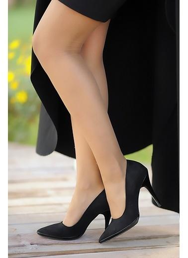 Pembe Potin A5454-19 Kadın Topuklu Ayakkabı A5454-19 Siyah
